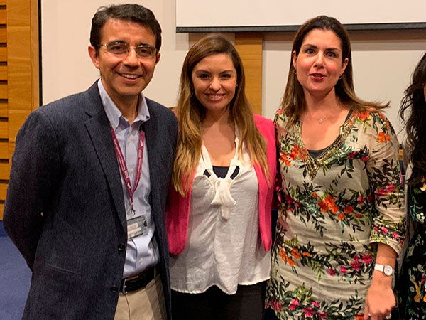Dr. Jorge Gaete, Bárbara Soto y Soledad Garcés