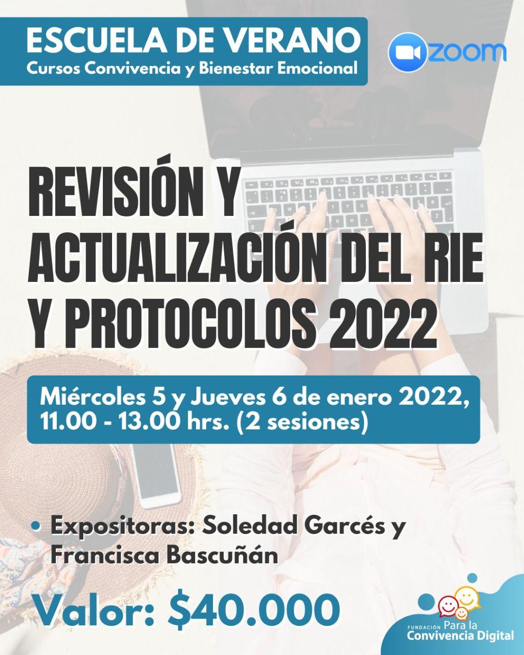 Revisión y actualización del RIE y protocolos 2022