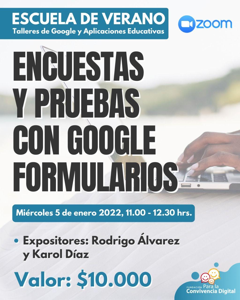 Encuestas y pruebas con Google Formularios