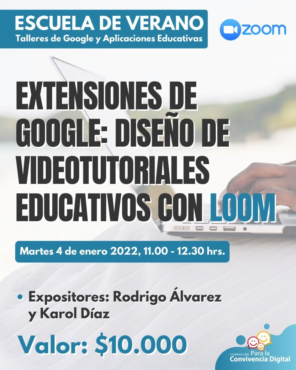 Extensiones de Google: diseño de videotutoriales educativos con Loom